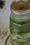 ball jar to keep veggies submerged
